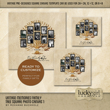 Vintage Memories Family Tree Square Canvas 1