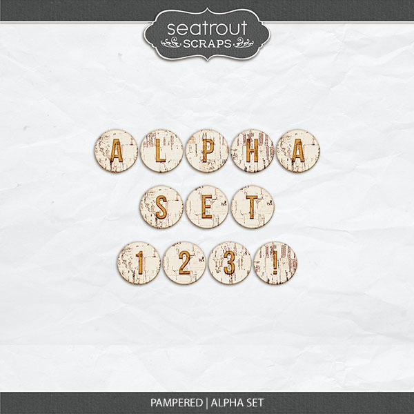 Pampered - Alpha Set Digital Art - Digital Scrapbooking Kits