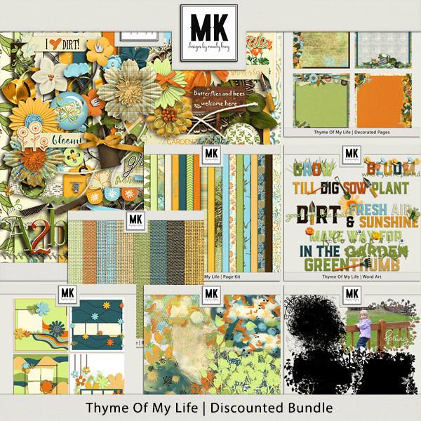 Thyme Of My Life - Discounted Bundle Digital Art - Digital Scrapbooking Kits