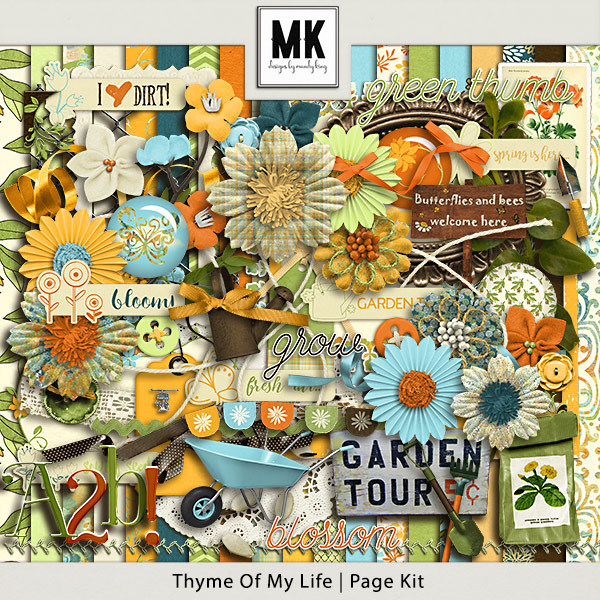 Thyme Of My Life - Page Kit Digital Art - Digital Scrapbooking Kits
