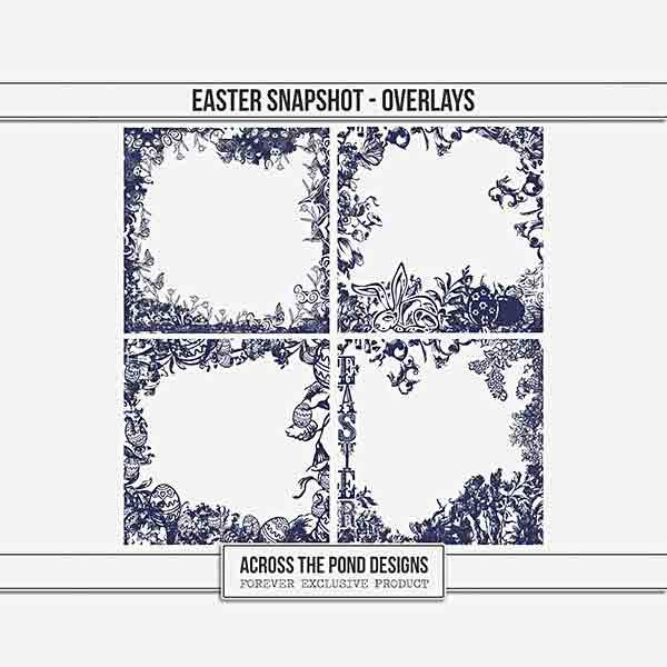 Easter Snapshot - Overlays Digital Art - Digital Scrapbooking Kits