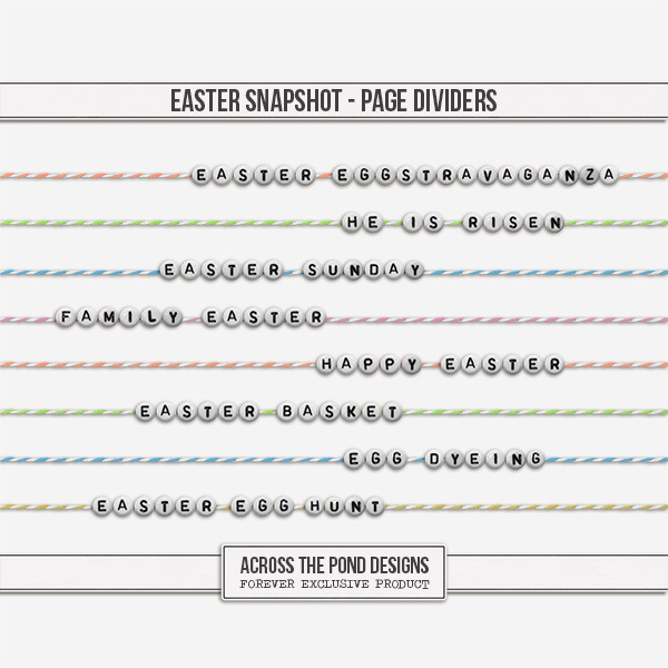 Easter Snapshot - Page Dividers Digital Art - Digital Scrapbooking Kits
