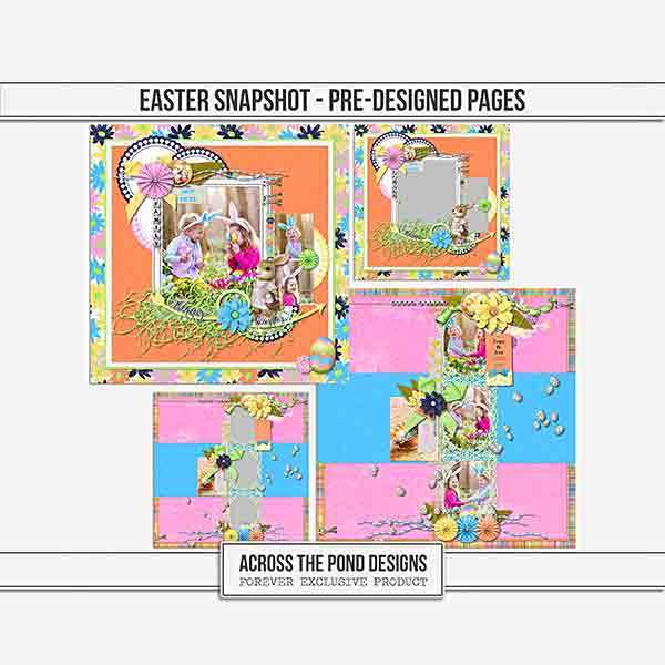 Easter Snapshot - Pre-designed Pages Digital Art - Digital Scrapbooking Kits