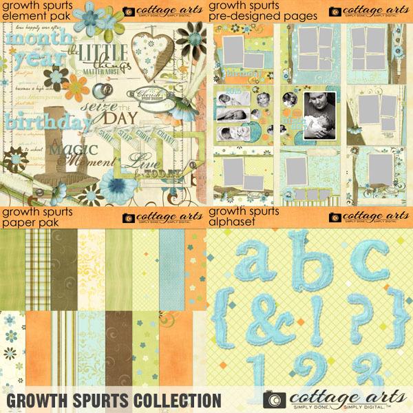 Growth Spurts Collection Digital Art - Digital Scrapbooking Kits