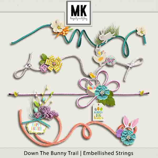 Down The Bunny Trail Collection - Embellished Strings