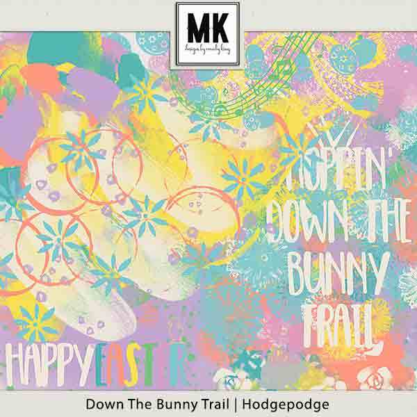 Down The Bunny Trail Collection - Hodgepodge Digital Art - Digital Scrapbooking Kits