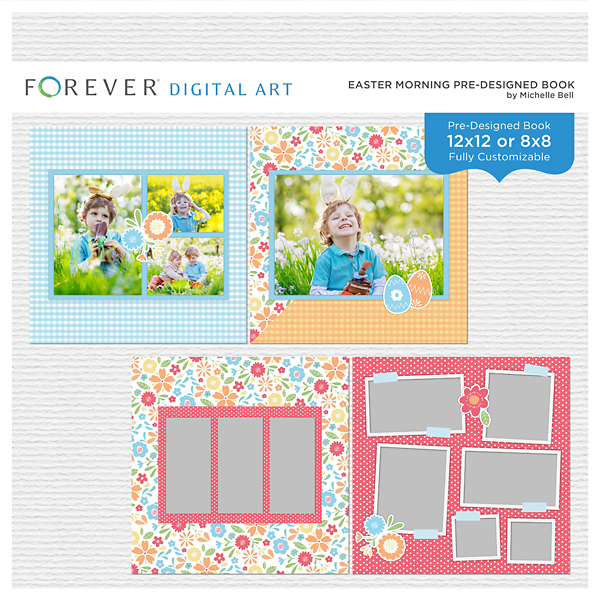 Easter Morning 12x12 Pre-designed Book Digital Art - Digital Scrapbooking Kits