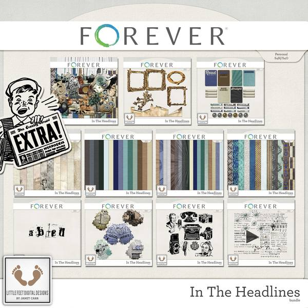 In The Headlines Super Bundle Digital Art - Digital Scrapbooking Kits