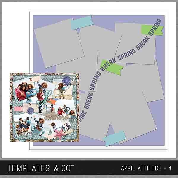 April Attitude 4 Digital Art - Digital Scrapbooking Kits