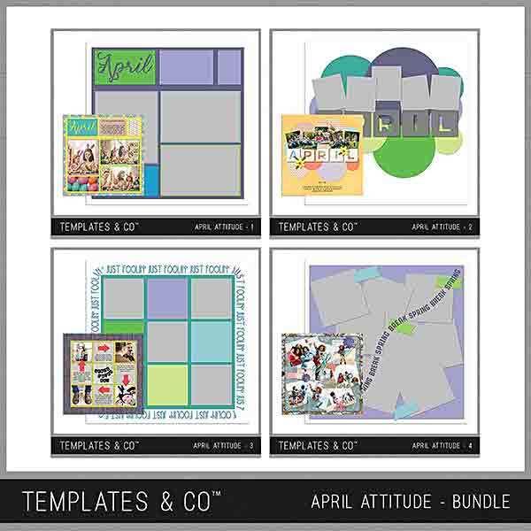 April Attitude Bundle Digital Art - Digital Scrapbooking Kits