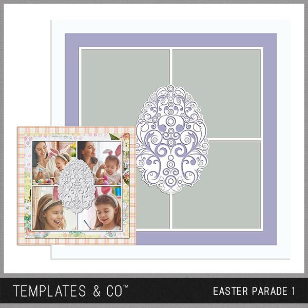 Easter Parade 1 Digital Art - Digital Scrapbooking Kits