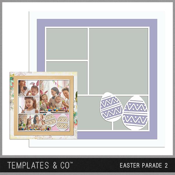 Easter Parade 2 Digital Art - Digital Scrapbooking Kits