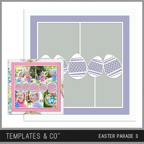 Easter Parade 3 Digital Art - Digital Scrapbooking Kits
