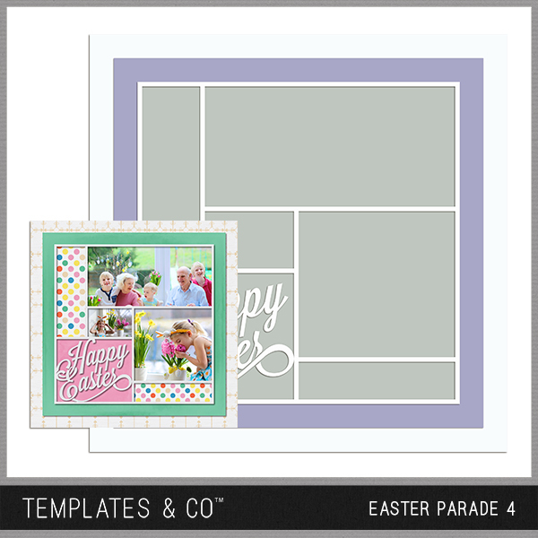 Easter Parade 4 Digital Art - Digital Scrapbooking Kits