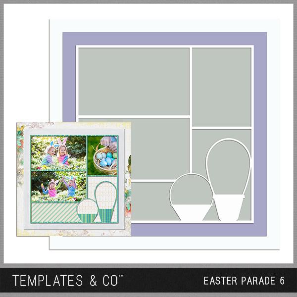Easter Parade 6 Digital Art - Digital Scrapbooking Kits