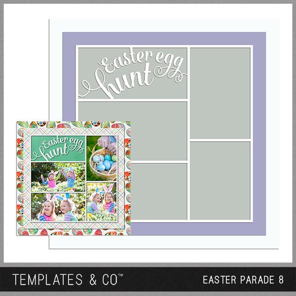 Easter Parade 8 Digital Art - Digital Scrapbooking Kits