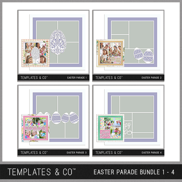 Easter Parade Bundle 1 - 4 Digital Art - Digital Scrapbooking Kits