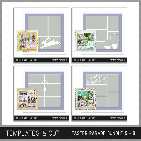 Easter Parade Bundle 5 - 8 Digital Art - Digital Scrapbooking Kits