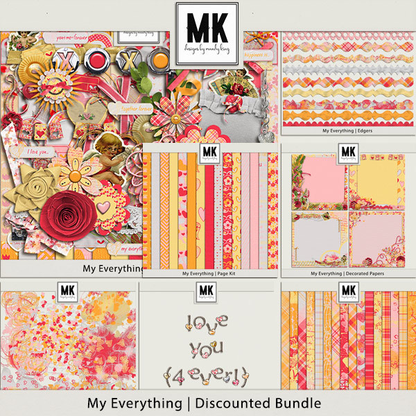My Everything - Discounted Bundle Digital Art - Digital Scrapbooking Kits