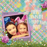 Down The Bunny Trail Collection - Burlap Mattes