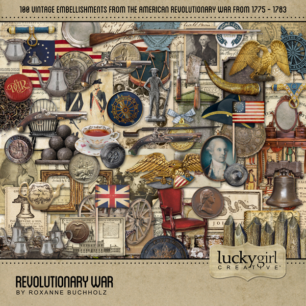 Revolutionary War Digital Art - Digital Scrapbooking Kits