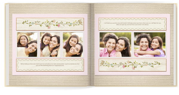 Family Floral Photo Book