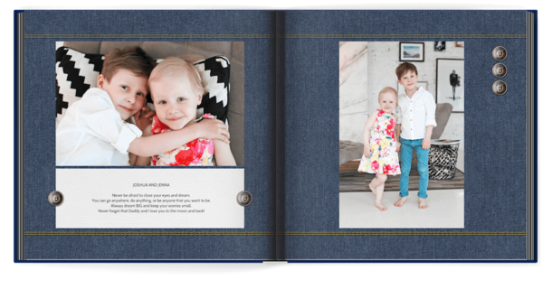 Blue Denim Photo Book