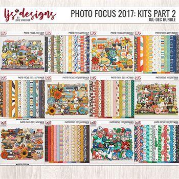 Photo Focus 2017 - Kit Bundle Part 2 (jul-dec) Digital Art - Digital Scrapbooking Kits
