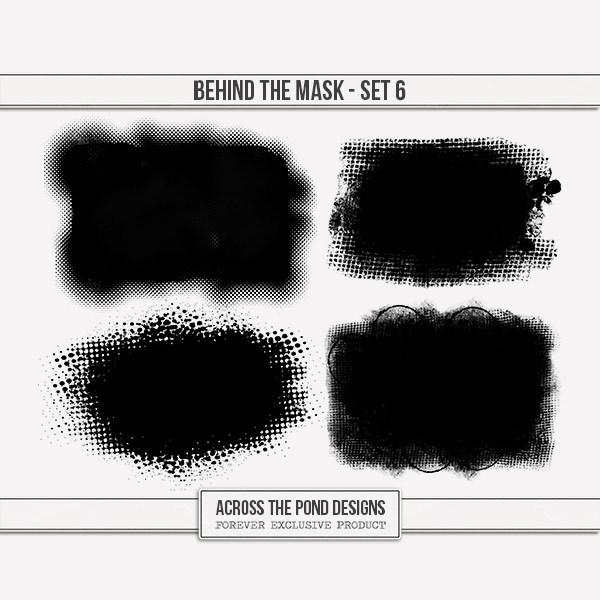 Behind The Mask - Set 6 Digital Art - Digital Scrapbooking Kits