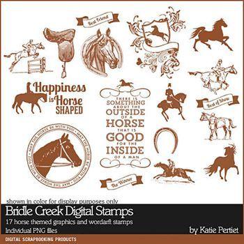 Bridle Creek Digital Stamps Digital Art - Digital Scrapbooking Kits