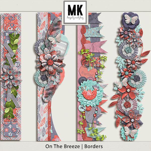 On The Breeze - Borders Digital Art - Digital Scrapbooking Kits
