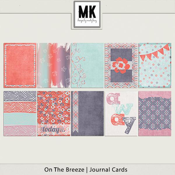 On The Breeze - Journal Cards Digital Art - Digital Scrapbooking Kits