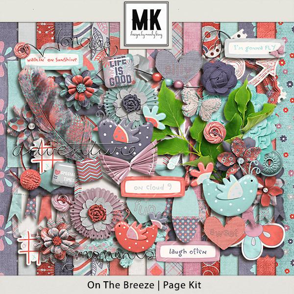 On The Breeze - Page Kit Digital Art - Digital Scrapbooking Kits