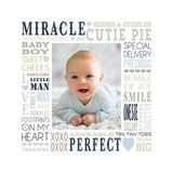 Milestones - Baby Boy Subway Art Canvas