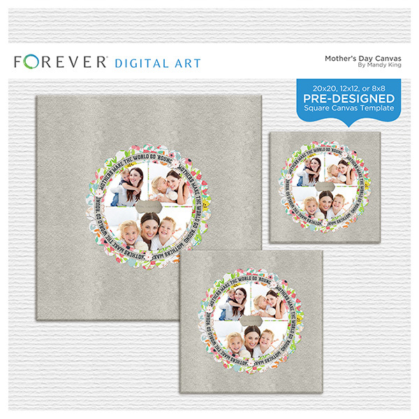 Mother's Day Canvas Digital Art - Digital Scrapbooking Kits