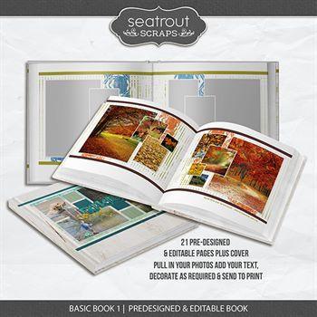 Basic Book 1 - Predesigned & Editable Digital Art - Digital Scrapbooking Kits