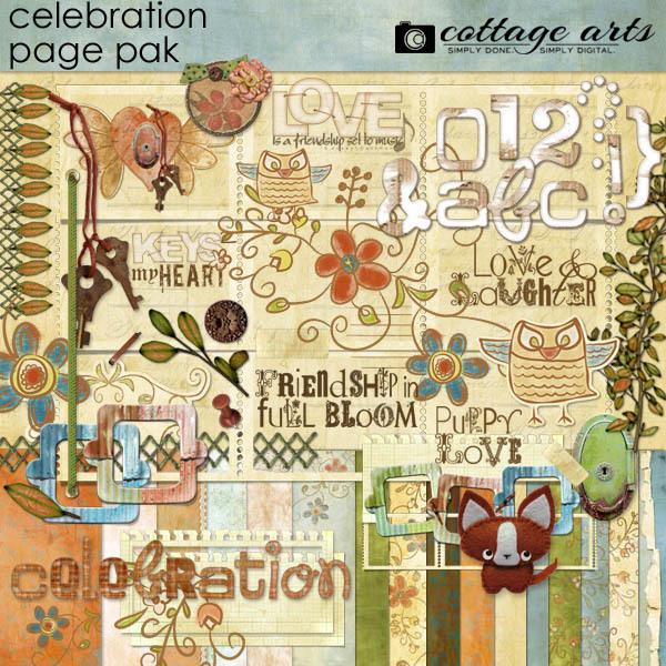 Celebration Page Pak Digital Art - Digital Scrapbooking Kits