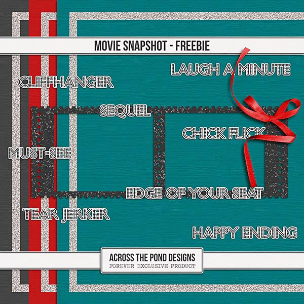 Movie Snapshot Freebie Digital Art - Digital Scrapbooking Kits