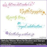Birthday Wishes Word Art Brushes And Stamps