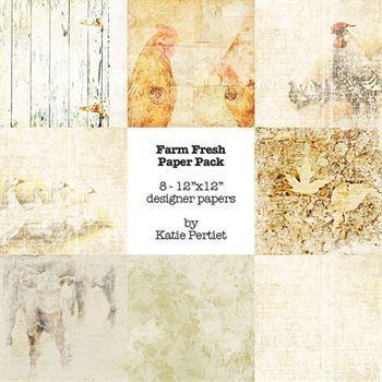 Farm Fresh Paper Pack Digital Art - Digital Scrapbooking Kits