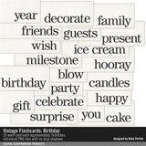Vintage Flashcards Birthday