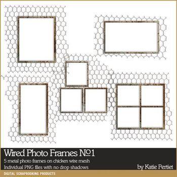 Wired Photo Frames No. 01 Digital Art - Digital Scrapbooking Kits