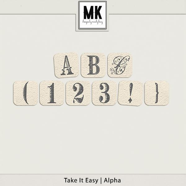 Take It Easy - Alpha Digital Art - Digital Scrapbooking Kits