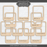 Super Sampler 1 - Wooden Sentiment Frames