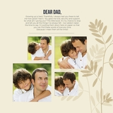 Simply Said Dad 12x12 Predesigned Pages