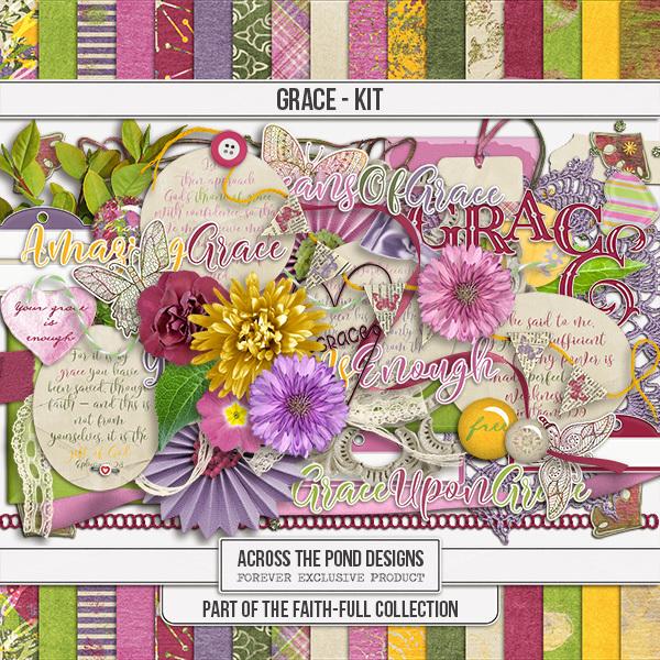 Faithfull Series - Grace - Page Kit Digital Art - Digital Scrapbooking Kits