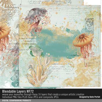 Blendable Layers No. 72 Digital Art - Digital Scrapbooking Kits