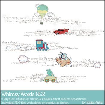 Whimsy Words No. 02 Digital Art - Digital Scrapbooking Kits