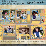 Birthday Bash Pre-designed Pages