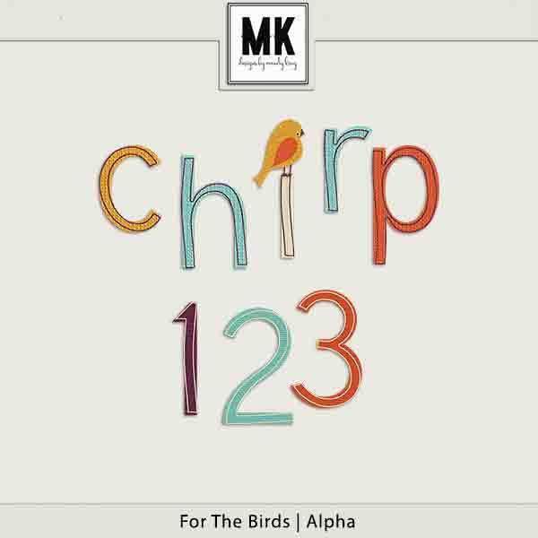For The Birds - Individual Parts - Alpha Digital Art - Digital Scrapbooking Kits